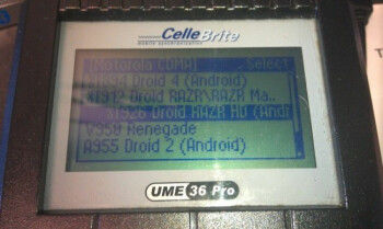 The Motorola DROID RAZR HD can now be seen on a third-party Cellebrite machine