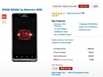 Now free on contract, the Motorola DROID BIONIC