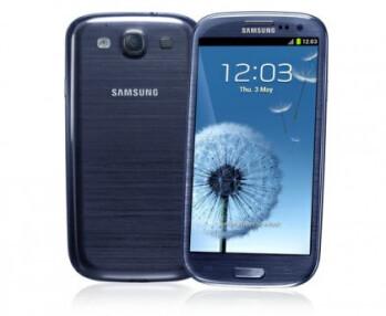Pebble blue version of the Samsung Galaxy S III