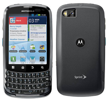 The Motorola Admiral provides push-to-talk service over Sprint's CDMA Direct Connect network