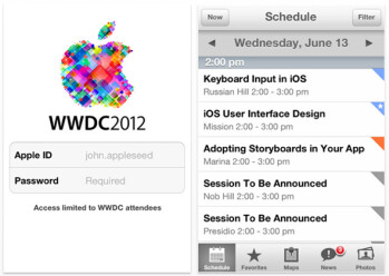 The WWDC 2012 app is here