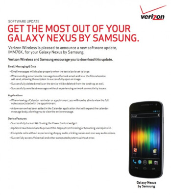 It's about time! Verizon Galaxy Nexus update finally to go