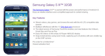 Telus is accepting pre-orders for the Samsung Galaxy S III