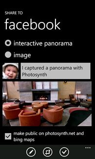 Photosynth 360-degree panorama app for Windows Phone
