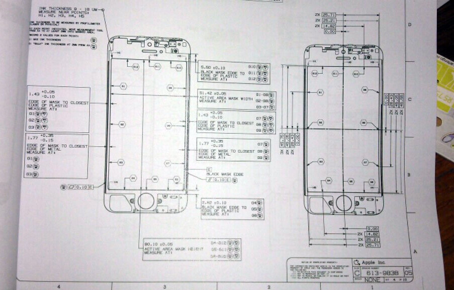 Purported Design Schematics For The Iphone 5 Confirm An