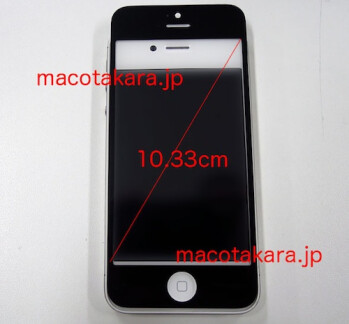 Alleged iPhone 5 front panel sized up with the iPhone 4S on video