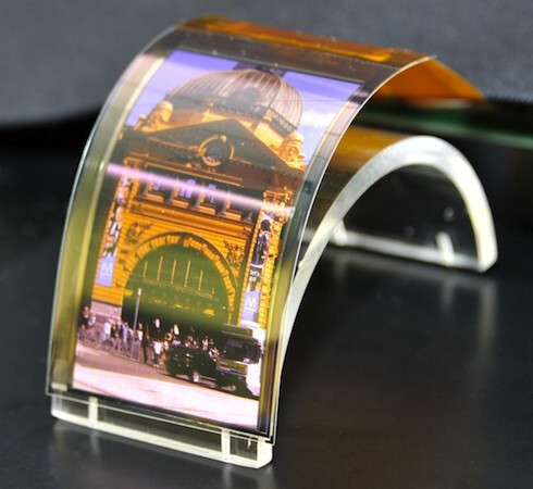 "Sharp 3.4"" flexible OLED screen"