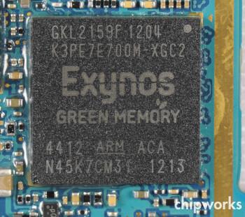 Inside the GT-i9300, the quad-core 1.4 GHz Samsung Exynos 4412