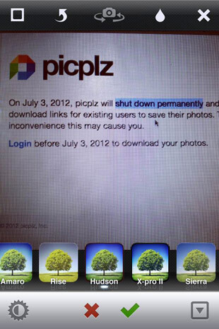 On July 3rd, picplz will be no more