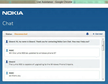 The Nokia Lumia 900 might be updated to Windows Phone 8 after all