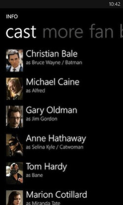 The cast of the movie