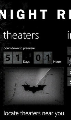 Countdown timer until the premiere