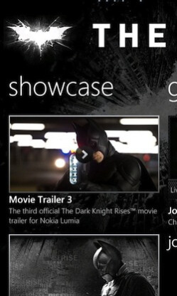 """View trailers to The Dark Knight Rises - A look at Nokia's exclusive """"The Dark Knight Rises"""" app"""