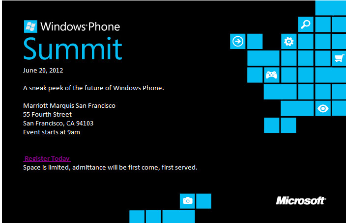 Microsoft to reveal the future of Windows Phone June 20 in San Francisco