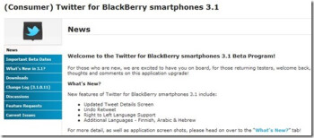 Twitter for BlackBerry v3.1.0.11 is available for download in the BlackBerry Beta Zone