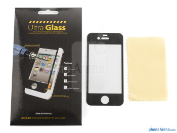 Wipe the surface of the iPhone 4S and apply Ultra Glass with a steady hand