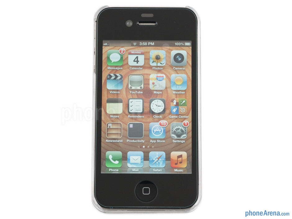The Ultra Glass screen protector allows a generic protective case to be used - Ultra Glass screen protector for iPhone 4S Review