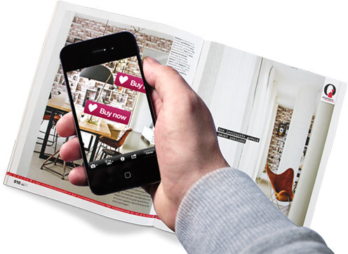 """Hiding """"Buy Now"""" buttons inside a printed page could lead to sales - Layar wants to help you use AR to hide words, video and other media inside printed words"""