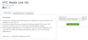 The HTC Media Link HD is available from AT&T