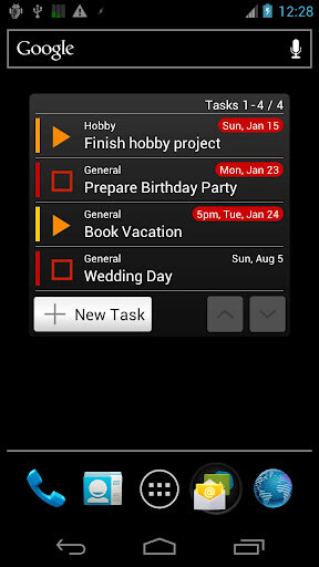 Tasks To Do (free, $5.29 for the Pro version)