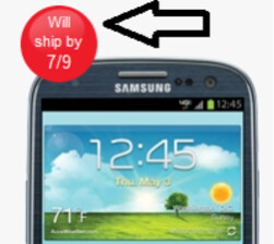 Verizon's own web site shows a July 9th shipping date for Samsung Galaxy S III pre-orders
