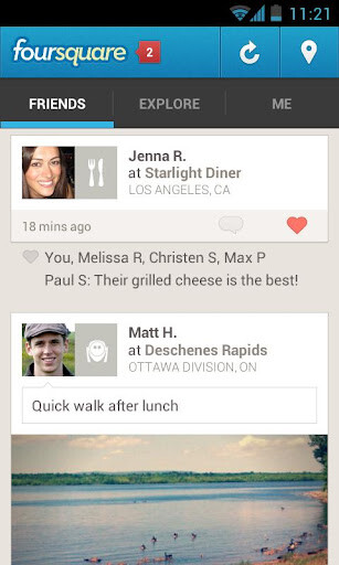 Android users also get to experience the revamped Foursquare app today