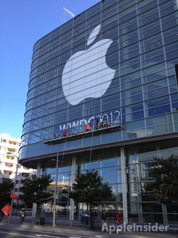 The Moscone Center is getting ready for WWDC 2012