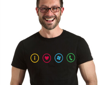 Show everyone where you stand with your I heart Windows Phone t-shirt