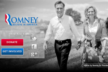 Republican Presidential candidate Mitt Romney is the first politician to use iAd
