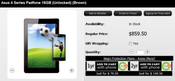The ASUS Padfone can be purchased now from Negri Electronics