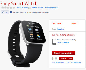 Verizon is now offering the Sony SmartWatch
