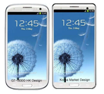 The version of the Samsung Galaxy S III headed to Korea allegedly will have square corners