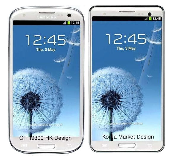 The version of the Samsung Galaxy S III headed to Korea allegedly will have square corners - Korean version of Samsung Galaxy S III to have different design?