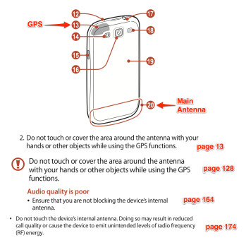 """You're holding it wrong:"" Samsung documentation instructs you about the right way to hold the Galaxy S III"