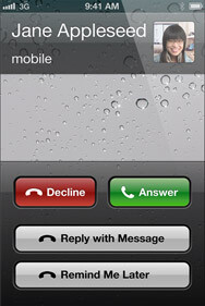 You can now reply to a call with a message
