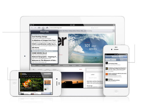Safari comes with offline reading and iCloud tabs