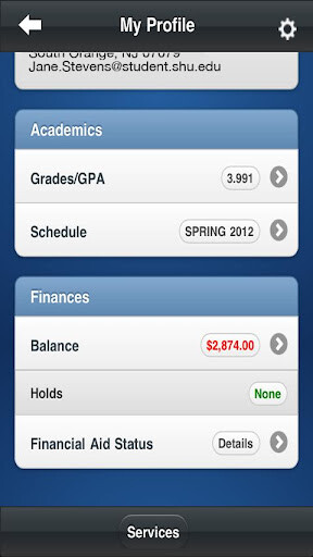 Images from the SHU app