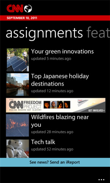 CNNis now available for all Windows Phone 7.5 users