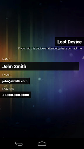 misHaps keeps your screen locked while making important contact information available