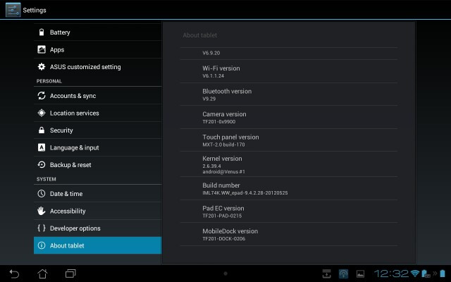 Asus Transformer Prime software update improves performance, boosts battery life