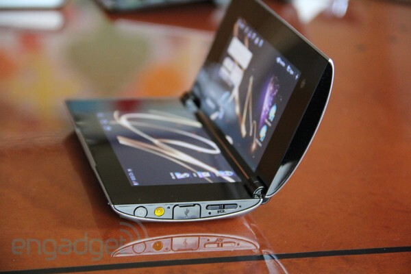 Side view of the clamshell look of the Sony Tablet P - Sony Tablet P and Sony Tablet S get updated to Android 4.0.3