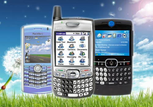 BlackBerry, Palm, and Windows were the top smartphone platforms