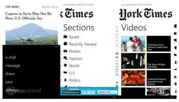 The updated New York Times app for Windows Phone Marketplace