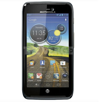 Note the AT&T network icon on this rendering of the Motorola ATRIX 3