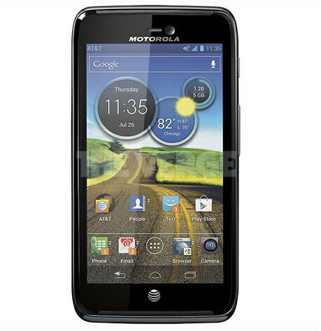 Note the AT&T network icon on this rendering of the Motorola ATRIX 3 - Motorola ATRIX 3 visits the FCC