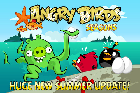 Angry Birds Seasons update adds new levels with udnerwater physics - Angry Birds Seasons updated, now with underwater physics