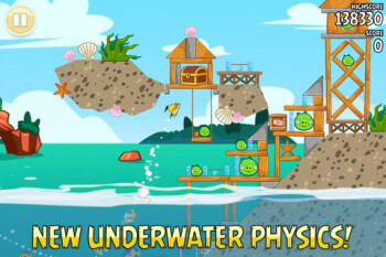 Angry Birds Seasons update adds new levels with udnerwater physics