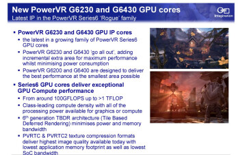 """Imagination: """"all out"""" with PowerVR G6230, G6430 graphics chips"""