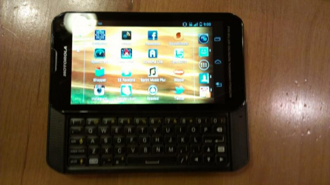 This Motorola side-slider is allegedly being beta-tested for Sprint - Leaked snapshot shows image of side-slidin' QWERTY by Motorola for Sprint
