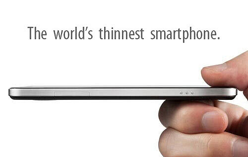 Side View of the Oppo Finder - World's thinnest smartphone, the Oppo Finder, can now be pre-ordered